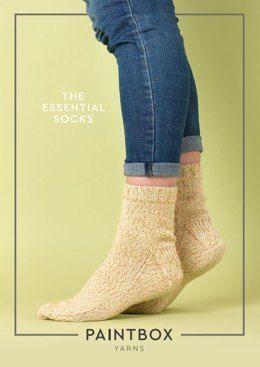 The Essential Socks in Paintbox Yarns Socks - Downloadable PDF