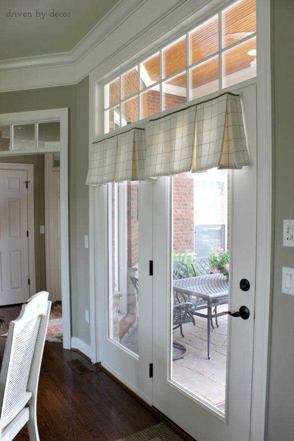 Window Treatments For Those Tricky Windows Driven By Decor In 2020 Corner Window Treatments French Door Window Treatments Kitchen Window Treatments