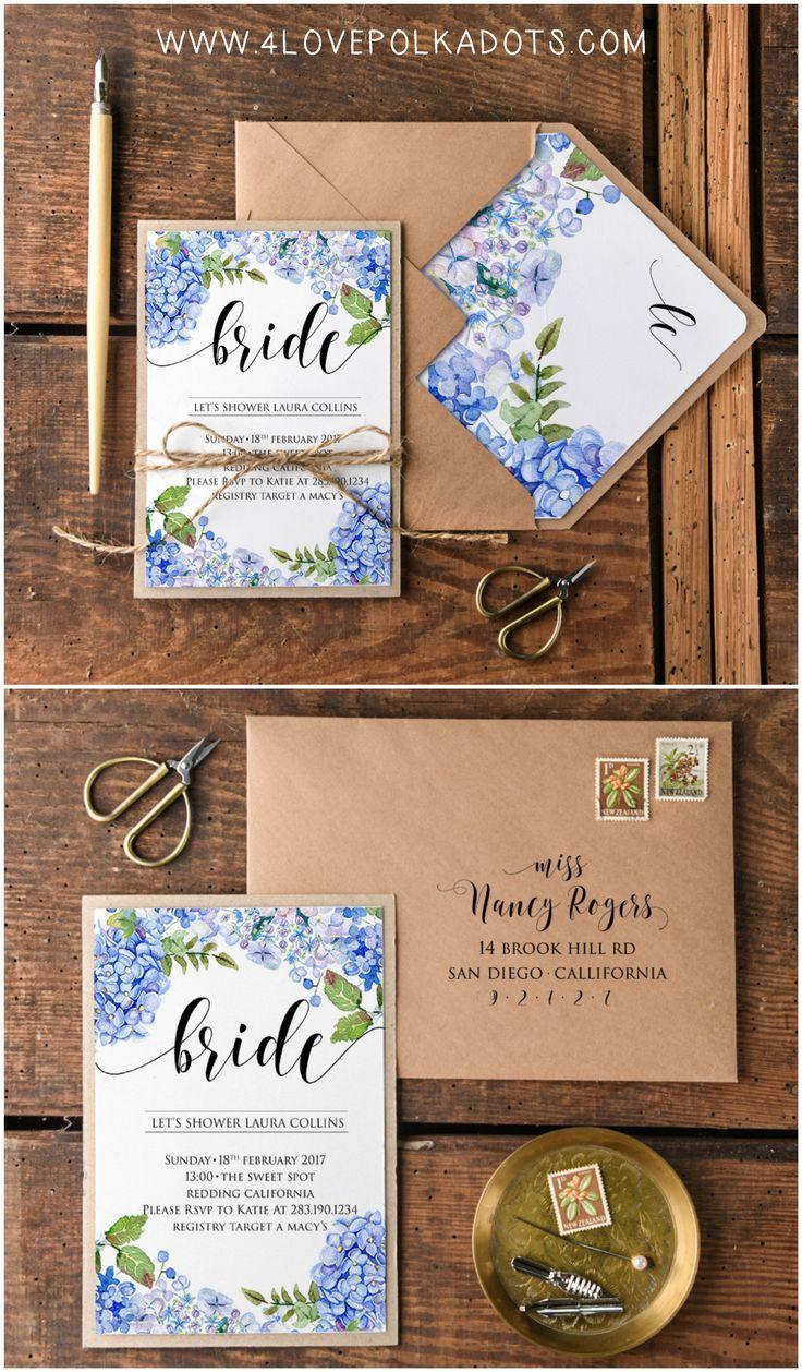 Bridal Shower Wedding Invitations full of flowers eco