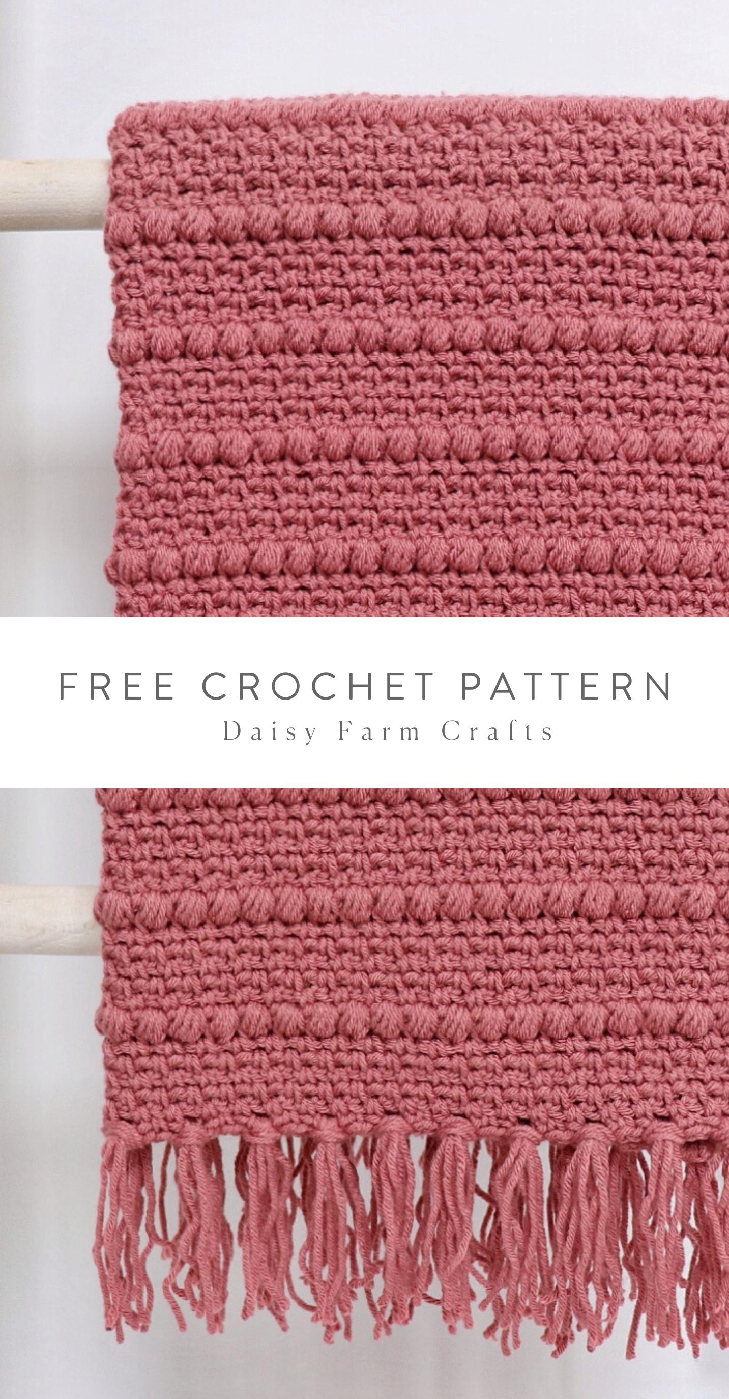 Free Crochet Pattern - Boho Puff Stripes Blanket