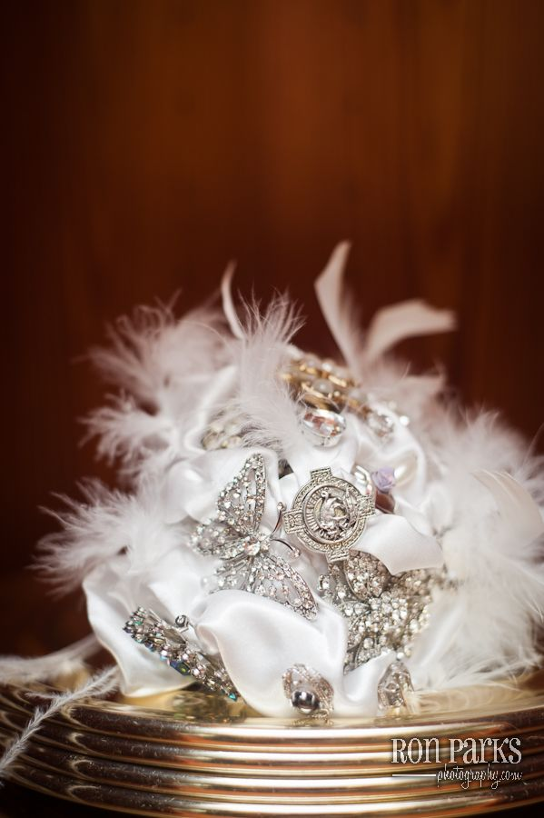 Brooch Bouquet- collected from my closest friends and family :)