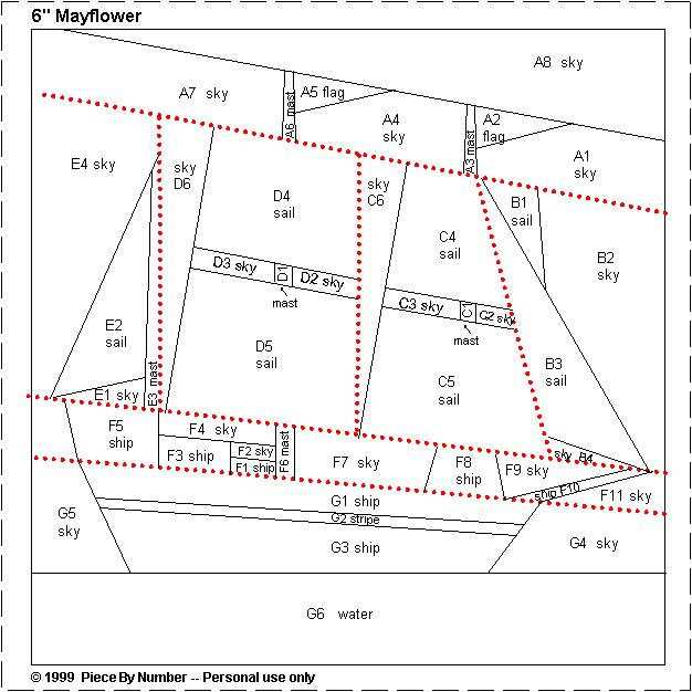 Mayflower Free Paper Piecing Quilt Block Pattern Free Quilt