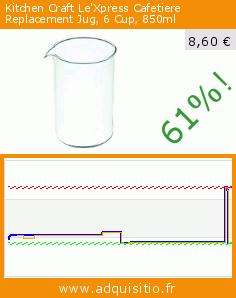Kitchen Craft Le'Xpress Cafetiere Replacement Jug, 6 Cup, 850ml (Cuisine). Réduction de 61%! Prix actuel 8,60 €, l'ancien prix était de 22,31 €. https://www.adquisitio.fr/kitchen-craft/lexpress-verre-rechange-1