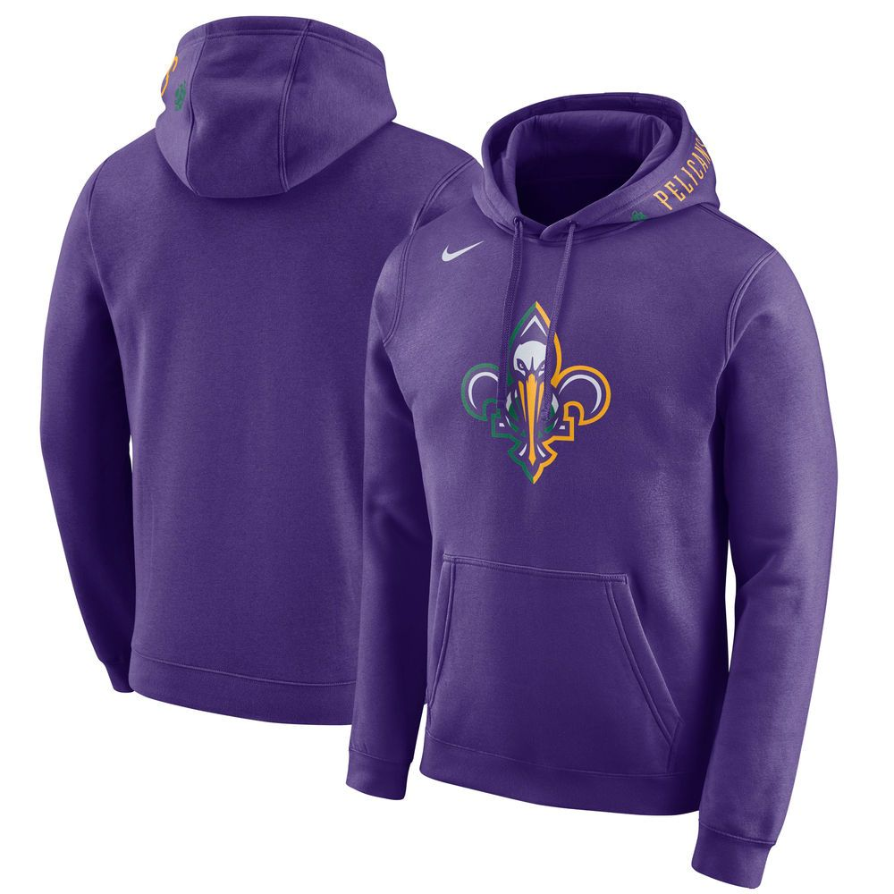 e328de0306fb Men s Nike Purple New Orleans Pelicans City Edition Club Fleece Pullover  Hoodie