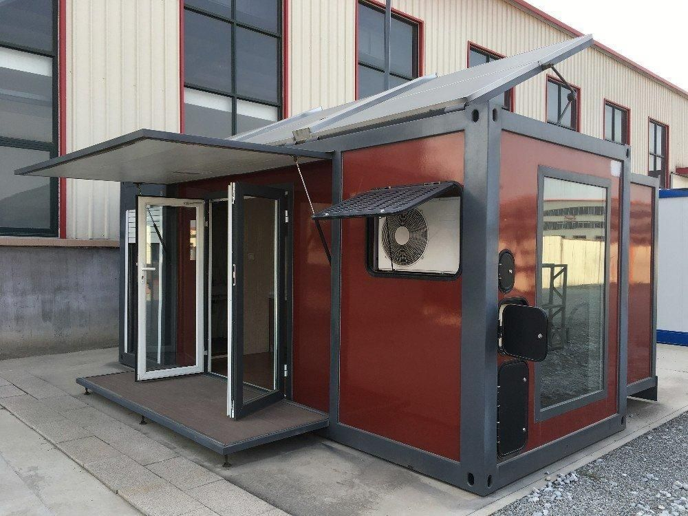 6 1 M 12 2 M Expandable Container House With Solar Energy Pre Fab Tiny House Container Homes For Sale Container House