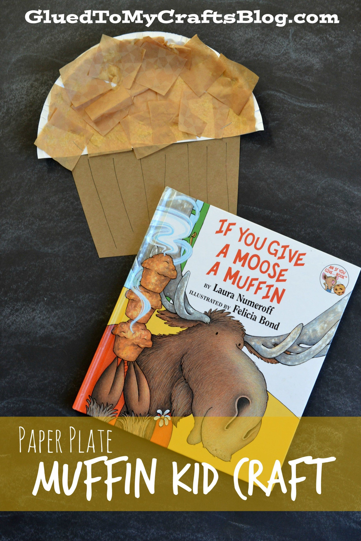Paper Plate Muffin Kid Craft