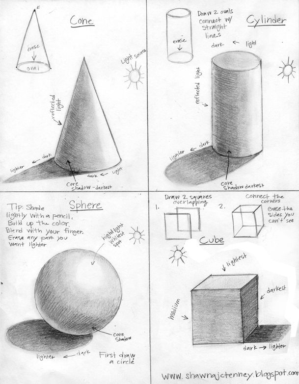 Imagine Art!: How to draw 3D shapes. | Illustrations and Posters ...