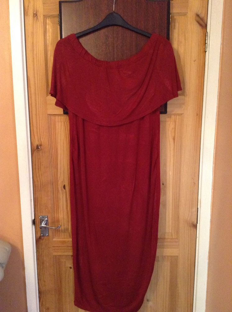 b918791555d53 Ladies Deep Red Maternity Dress Boohoo Size 16 #fashion #clothing #shoes  #accessories #womensclothing #maternity (ebay link)