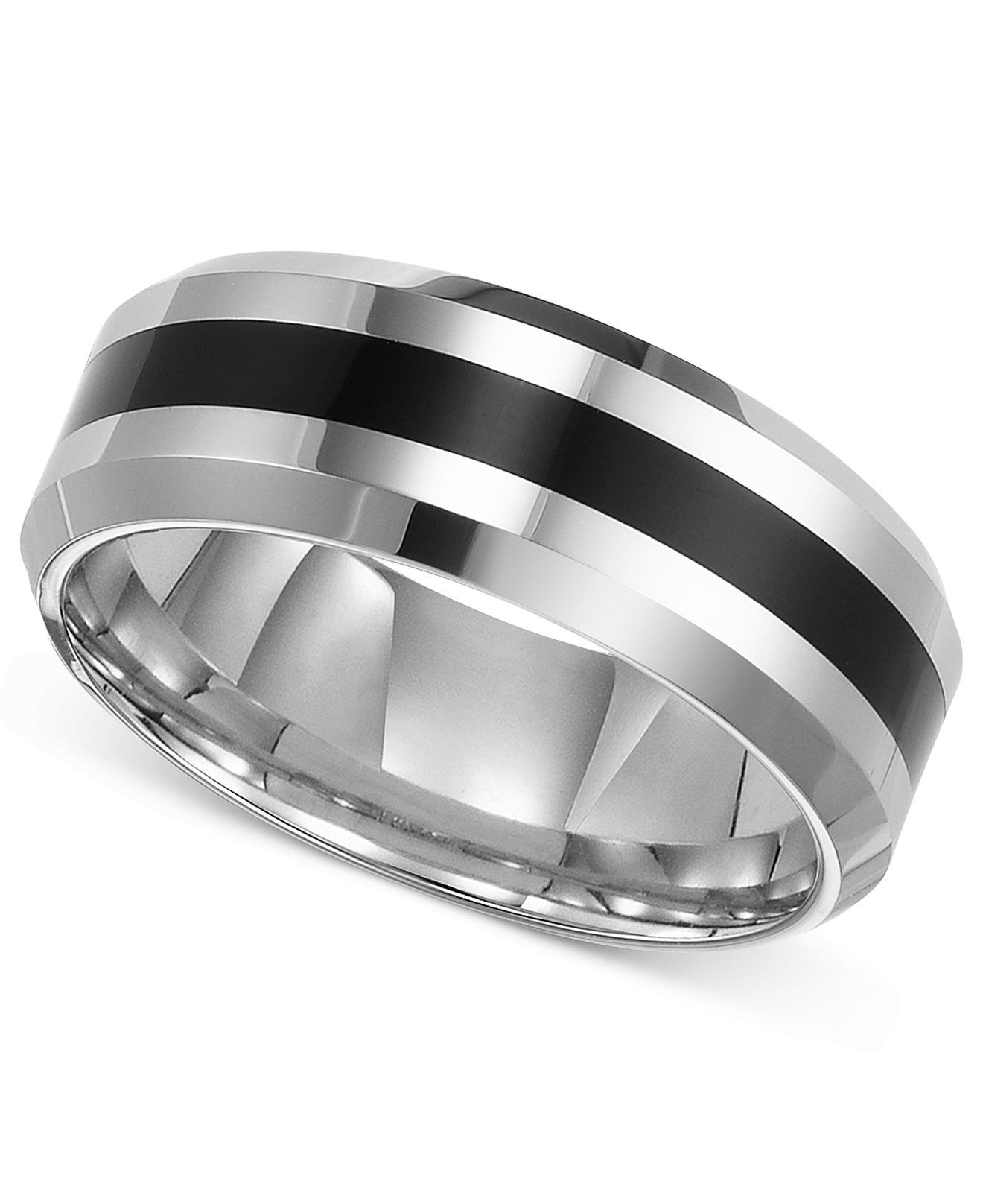 Triton Men S Tungsten Carbide Ring Comfort Fit Wedding Band Reviews Rings Jewelry Watches Macy S Tungsten Carbide Wedding Bands Comfort Fit Wedding Band Wedding Ring Bands