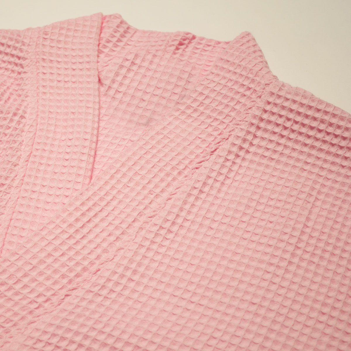 c62b069ae2 Wedding Robes    Thigh Length Robes    Waffle Kimono Pink Short Robe Square  Pattern