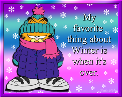 Cherokee Billie Spiritual Advisor Winter Humor Cold Weather Funny Garfield Quotes
