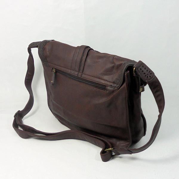 f63994c33 Bandolera marron aplique dorado. . #bolso #accesorios #complementos  #comprar #compraonline
