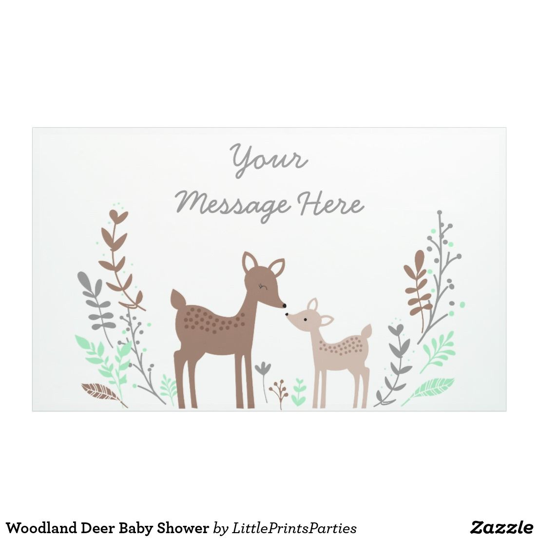 Woodland Deer Baby Shower Banner This Sweet Banner Features Our Cute