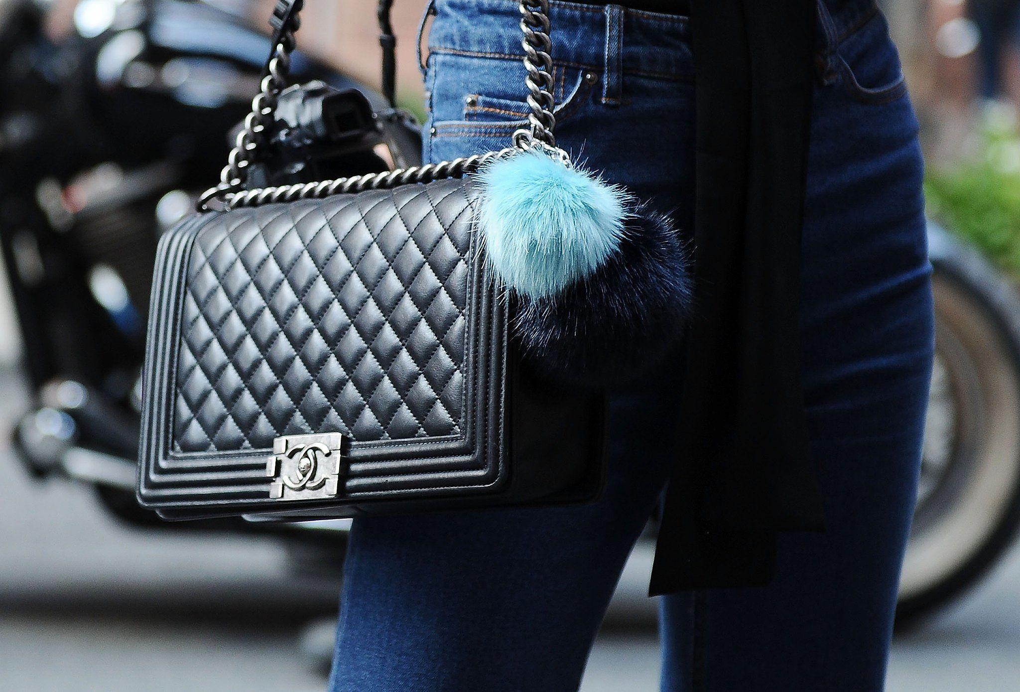 Chanel bag and Fendi keychain.