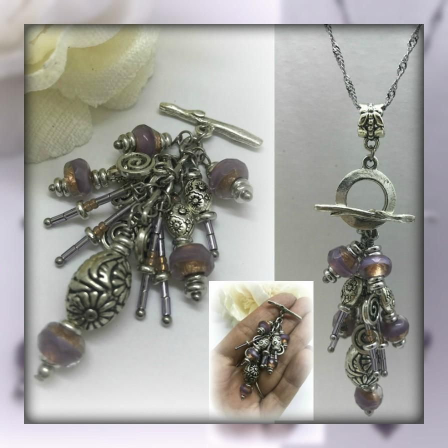 Floral glass and seed bead interchangeable beaded pendant necklace floral glass and seed bead interchangeable beaded pendant necklace 1516d aloadofball Choice Image