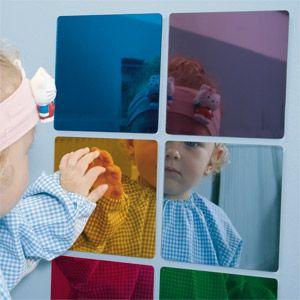 Espejos colores dideco psicomotricidad bebes material y for Espejo montessori