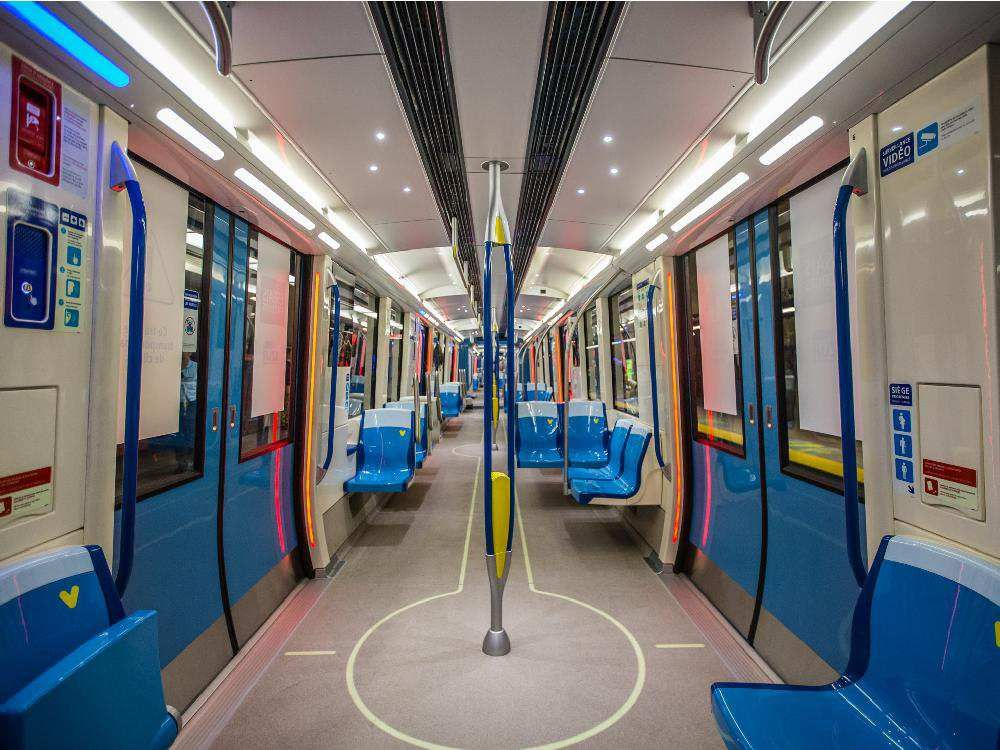 A View Of The Interior New Azur Metro Cars On Display At Henri