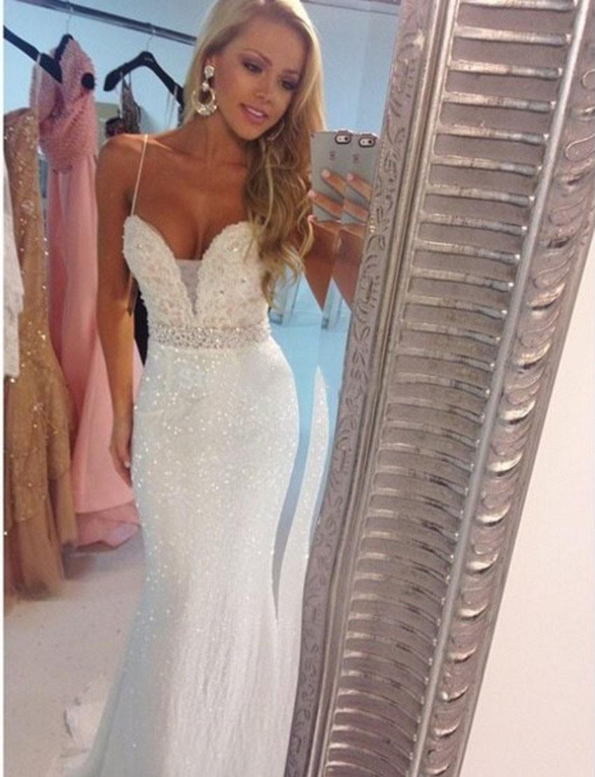 Custom made evening dresses for womens hot sale cheap spaghetti