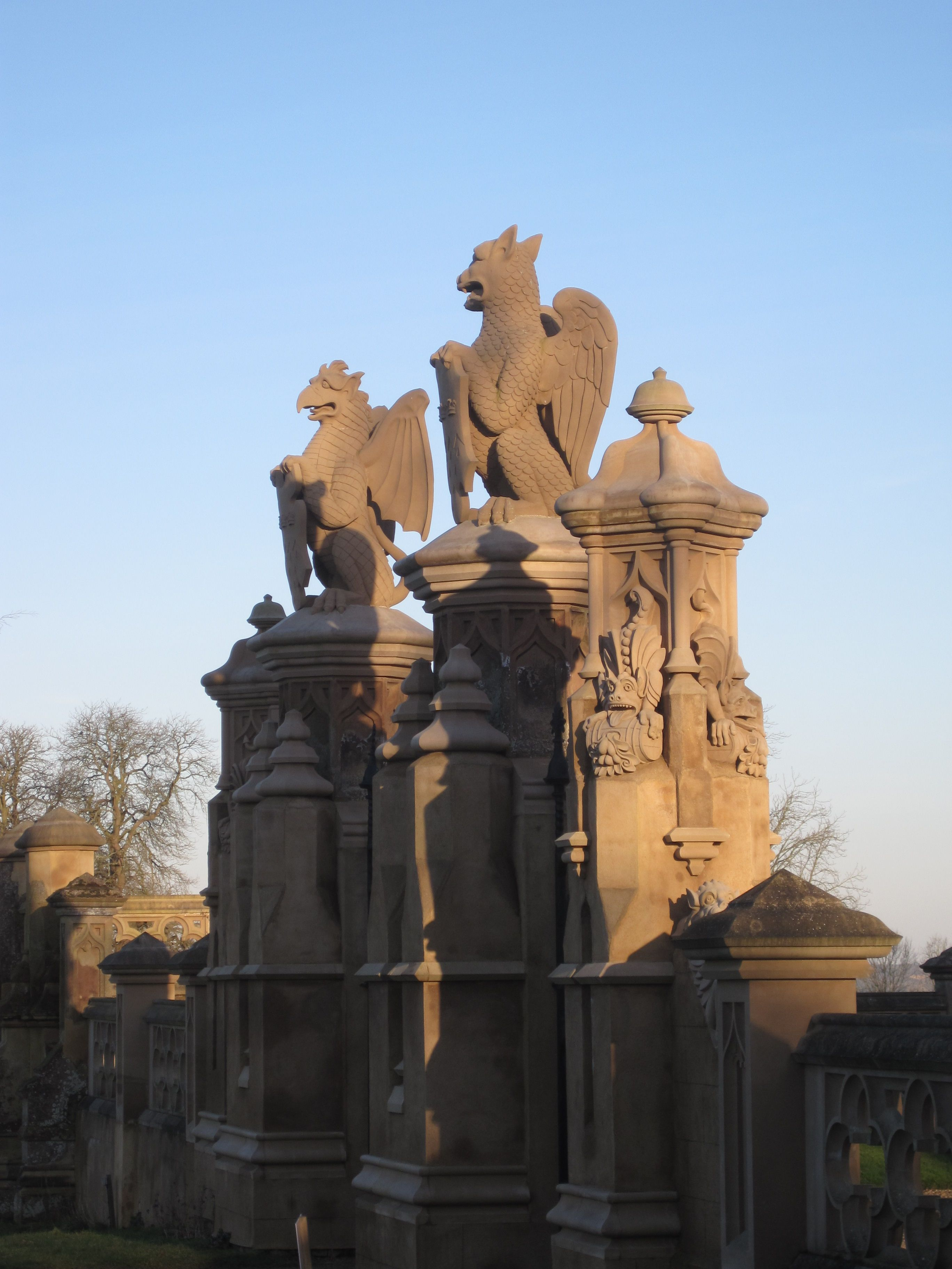 Gryphons on the Courtyard gates