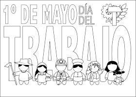 Dia Del Trabajo Para Colorear Primero De Mayo Para Colorear Dia Internacional Del Trabajo Dia Del Trabajador Oficios Y Profesiones