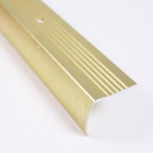 Trafficmaster Satin Brass Fluted 36 In Stair Edging 18542 Satin