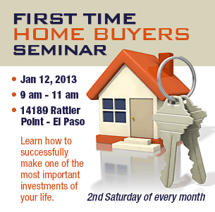 FIRST TIME HOME BUYER SEMINAR BIC HOMES El Paso Tx Real Estate - First time home buyer flyer template