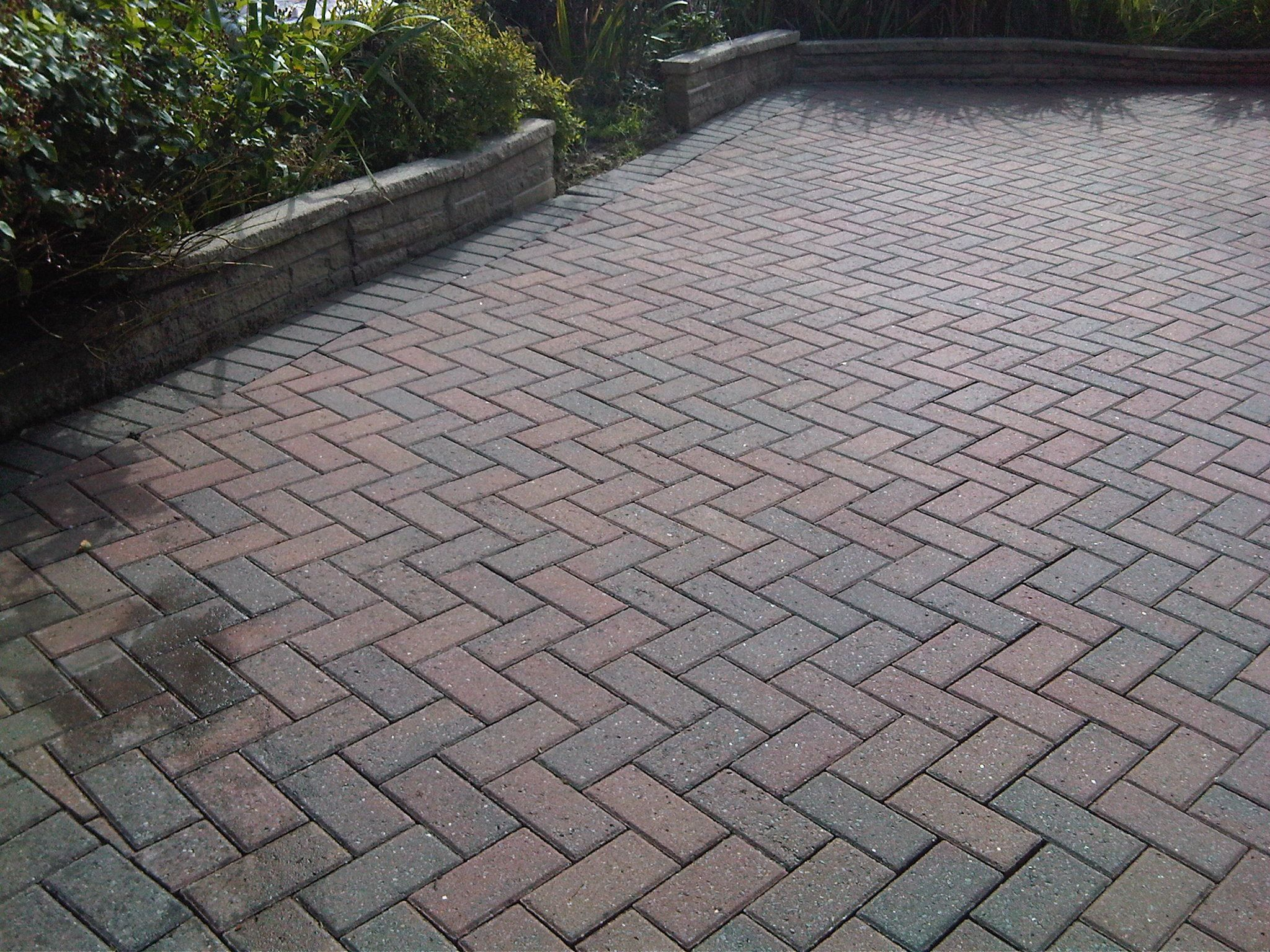 Concrete Block Driveway Paving Just Cleaned 1024x768 Cleaning Driveways And Exterior