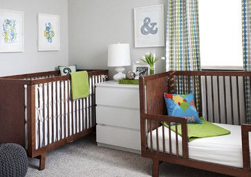 fabulous modern room / nursery for infant and toddler sharing