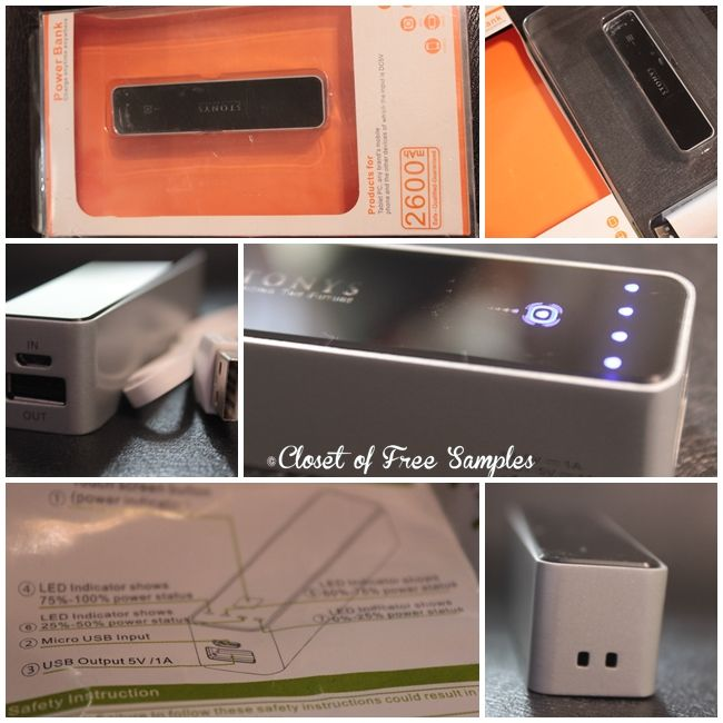 2600mah portable charger with touch screen review get free