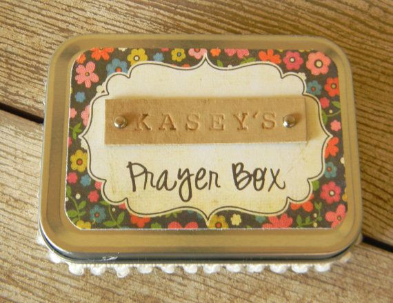 Personalized Prayer Box - unique Christian gift for birthday ...