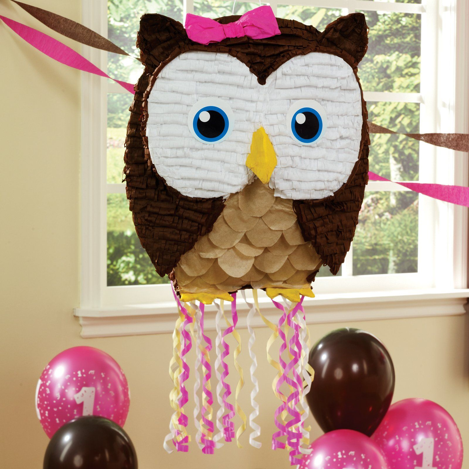Owl Pinata...Im using this for my daughter\'s 1st bday party...so ...