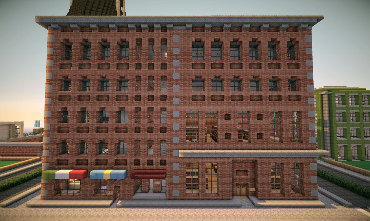 New york brick buildings on world of keralis minecraft project minecraft pixel art perler - Brick houses three beautiful economical projects ...