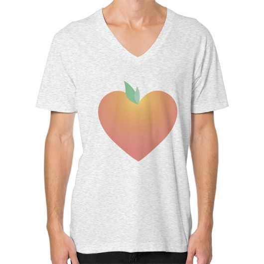 PeachyHeart V-Neck (on man)