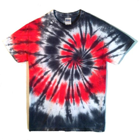 3bb7b1070364b Tie Dye red and black spiral t-shirt. Mesmerizing - perfect for ...
