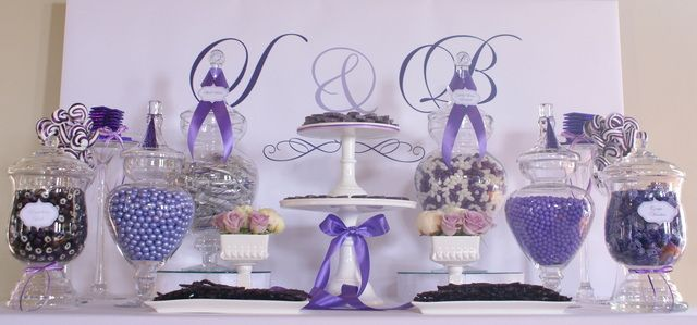 Wedding Party Ideas Photo 7 Of 13 Candy Buffet Wedding Lavender Wedding Wedding Candy