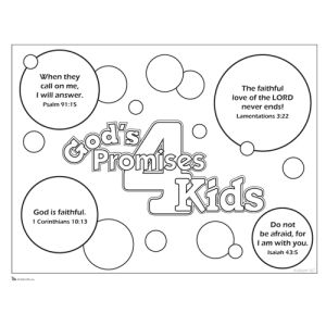 gods promises 4 kids coloring page wednesday nights pinterest