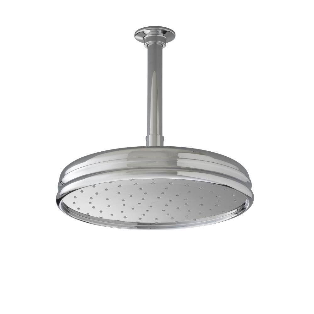 Kohler 10 Traditional Round Rain Showerhead Polished Chrome Rain Shower Head Shower Heads Kohler