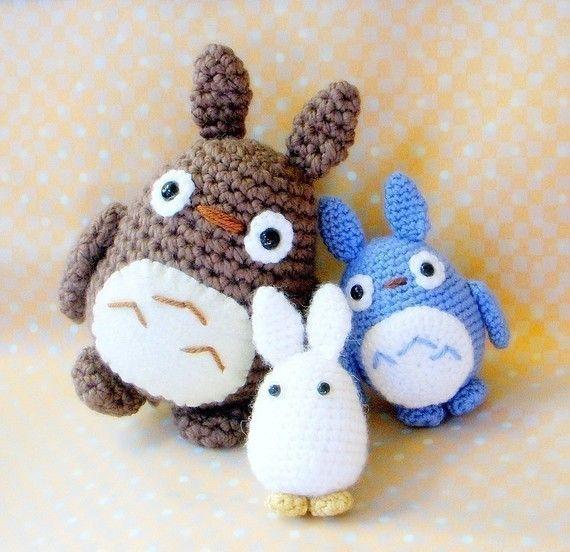 Totoro Friends Amigurumi pattern - 3 crochet amigurumi monster doll ...