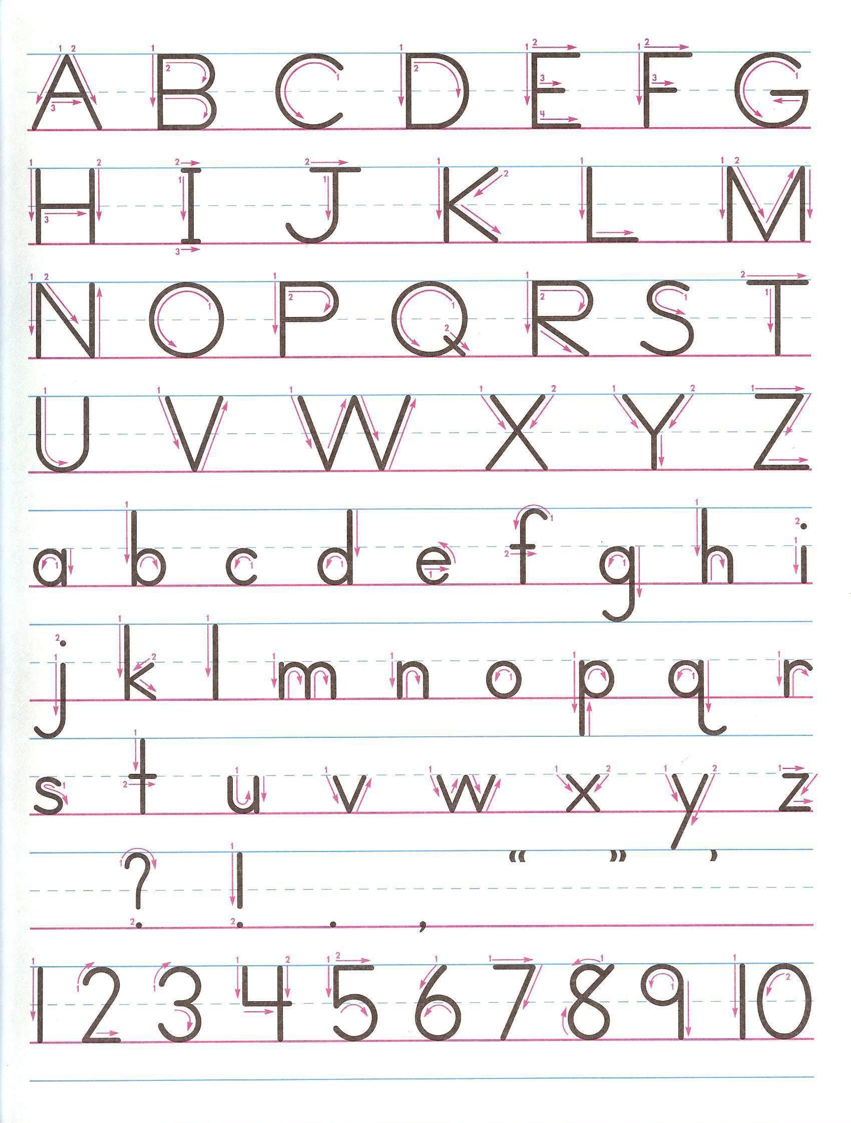 Letter Formation Alphabet Handwriting Sheet Uppercase And Lowercase Kids Handwriting Practice Handwriting Worksheets Zaner Bloser Handwriting [ 2242 x 1700 Pixel ]