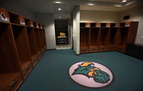 The HTC Center Mens Basketball Locker rooms Coastal Carolina