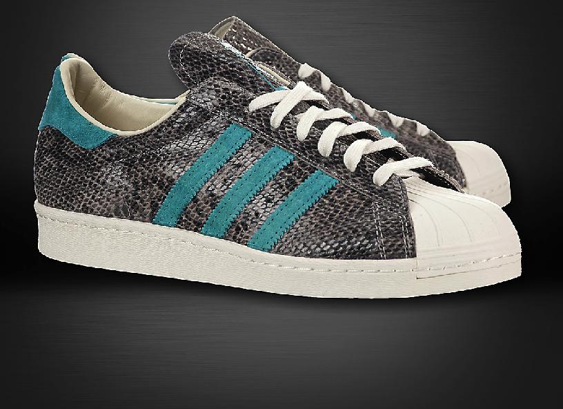Adidas Superstar 80s SHELL TOE SNAKE SKIN RARE D67654 $175.00
