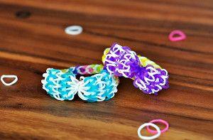 NEW! Beautiful Bow Rainbow Loom Bracelets (includes a video!)