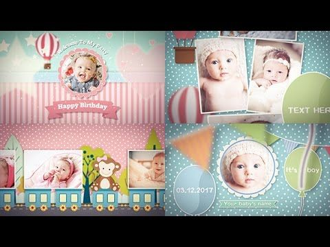 Baby Photo Album After Effects Template Royalty Free Video Baby Photo Album Birthday Photo Album Photo Album