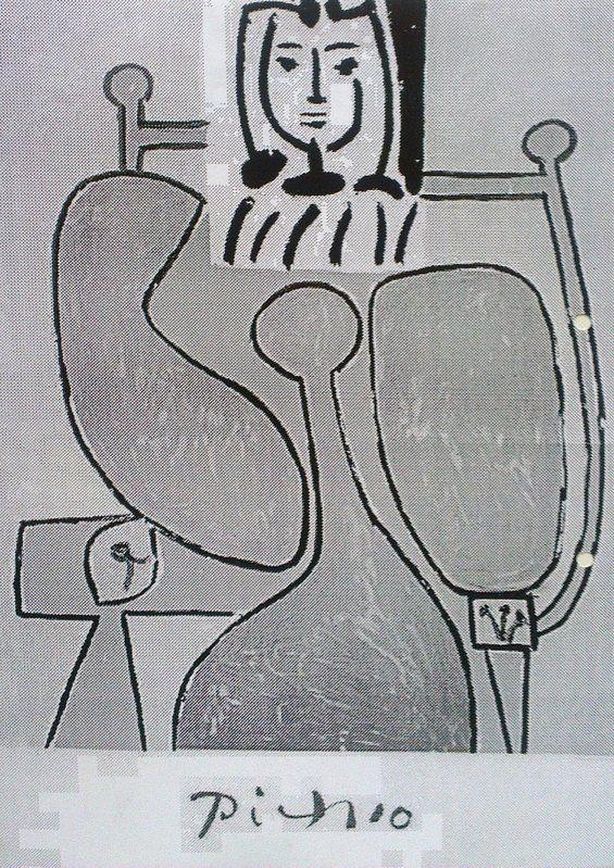 Betty Edwards kuva - näytetään 1/4 kerrallaan, ylösalaisin, piirretään pintaa, muotoja ei kuvaa.