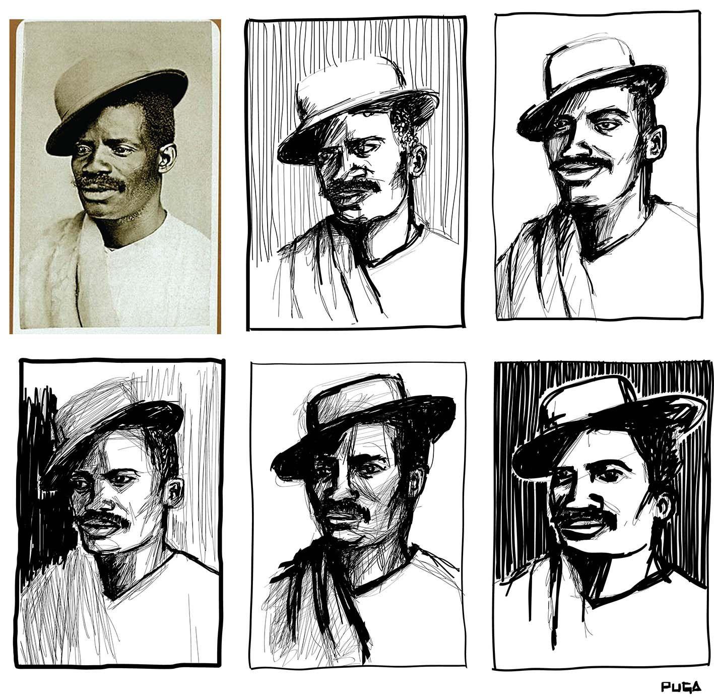 O artista Puga Menezes realizou uma série de ilustrações para homenagear o Mês da Consciência Negra. Ele vetorizou fotos do século XIX de Alberto Henschel.