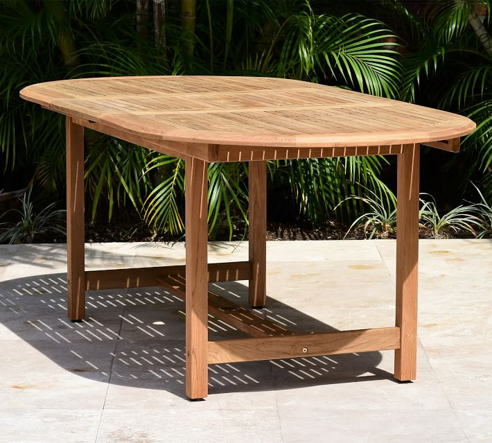 Nassau Oval Teak Outdoor Dining Table, Oval Outdoor Dining Table