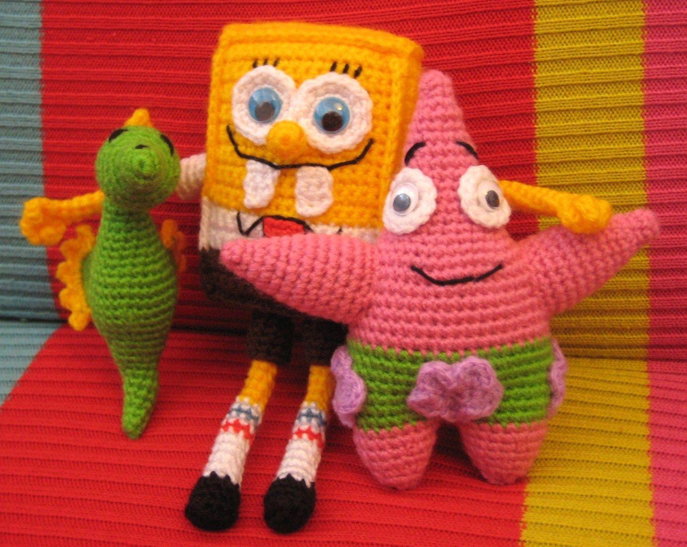 Magnetic Mary: Bob Esponja y Patricio   Crochet   Pinterest   Verlieben