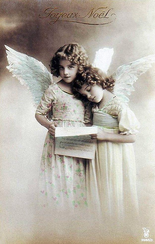 Открытки фото, ретро открытки с ангелочками