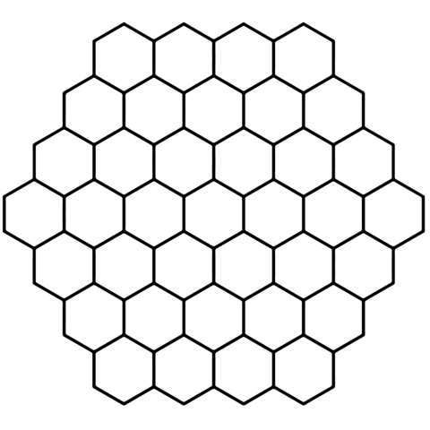 Hexagon Honeycomb Tessellation Coloring Page From Tessellations Category Select From 24104 Printable Crafts Of Hexagon Pattern Bee Printables Octagon Pattern