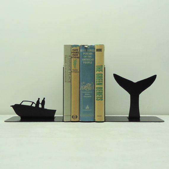 Whale Tail Art métal serre-livres - USA livraison gratuite